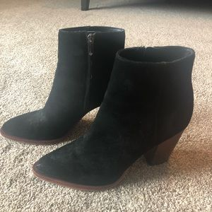 Sam Edelman suede black booties